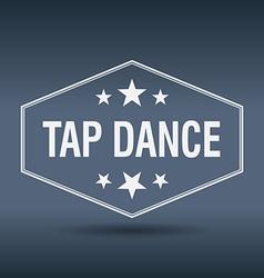 Tap dance hexagonal white vintage retro style vector