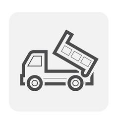 Tipper truck icon vector