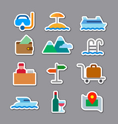 travel and resort stickers vector image