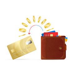wallet to card money transfer vector image