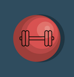 weight lifting lifestyle icon vector image