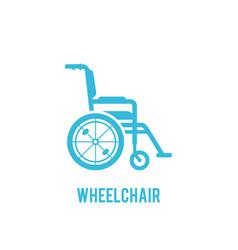 wheelchair in hospital flat design vector image