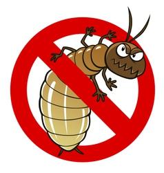 anti termite sign vector image