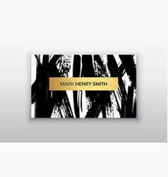 black and gold design templates for brochures vector image vector image