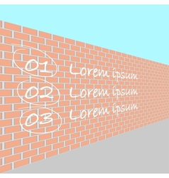 brick wall in perspective vector image