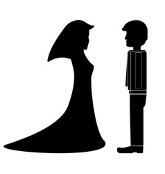 Fiance and fiancee bridegroom and marriageable vector