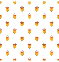 Flag football team pattern cartoon style vector image vector image