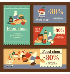 food shop banners vector image vector image