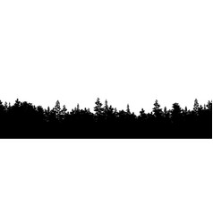 silhouette forest panorama vector image