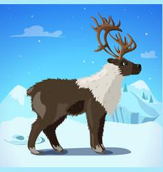 cartoon colorful reindeer template vector image vector image