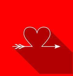 cupid arrow heart valentines day cards element vector image vector image