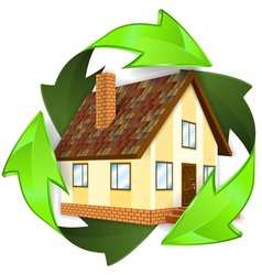 Ecological and Energy Saving Concept vector image vector image
