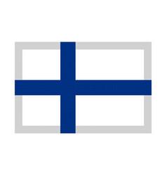 finland flag pixel art cartoon retro game style vector image