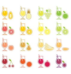 Fruit Juice Icon Set vector image vector image
