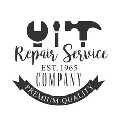 premium quality repair and renovation service vector image vector image