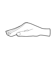 Protecting hand icon outline style vector image