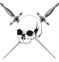 Skull and Dagger vector image