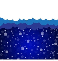 Cloud discount background New Year and Christmas vector image