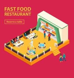 Fast food restaurant background vector