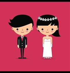 Groom and Bride Wedding Characters vector image vector image