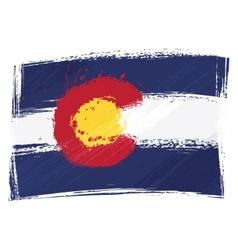 grunge colorado flag vector image vector image