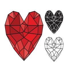 HEART SHAPE4 resize vector image vector image