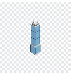 isolated cityscape isometric apartment vector image vector image