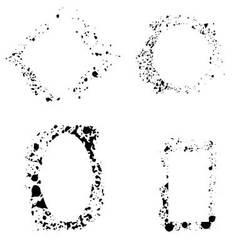 Set of frame grunge vector image vector image