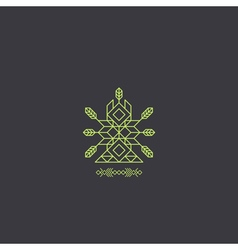 Totem Decorative Line Art Element Geometric Style vector image