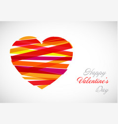 valentine card template vector image vector image