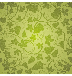 vine seamless background vector image vector image