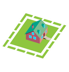 wooden house for real estate brochures or web icon vector image