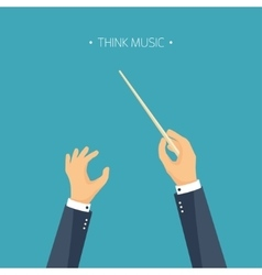 Flat background orchestra vector
