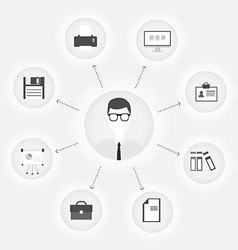 flat customer office concept vector image vector image
