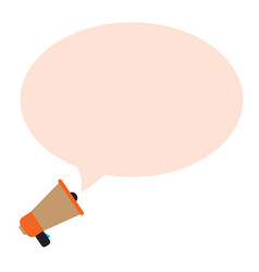 Megaphone bubble on white background message vector