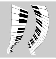 Piano keys for design vector image