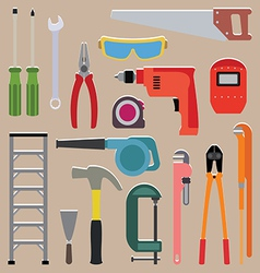 set of tools instrument icons vector image vector image