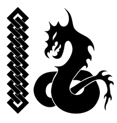 silhouette of dragon vector image vector image