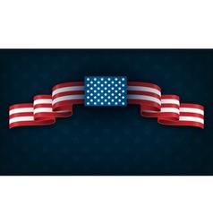 Wavy USA National Flag on Blue vector image