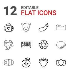 12 natural icons vector