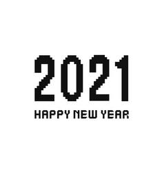 2021 new year pixel art vector image