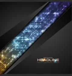 Abstract shiny hi-tech corporate background vector