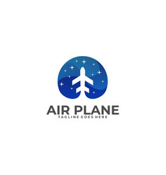 air plane template vector image