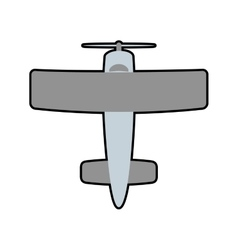 airplane grey travel transporation icon vector image
