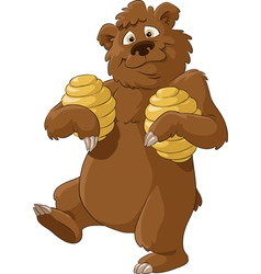 Bear and honey vector