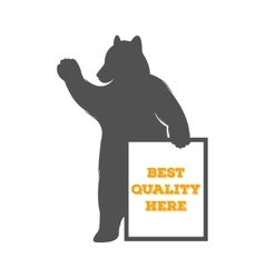 Bear with Sign vector
