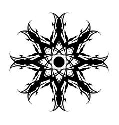 Black tribal tattoo 0004 vector