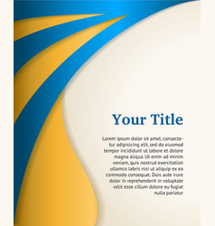 Blue and gold business background modern template vector