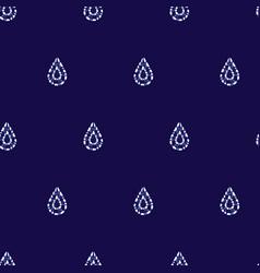 Blue shibori simple teardrop polka dot vector