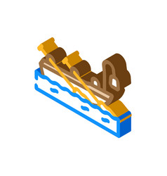 Boat pirate isometric icon vector